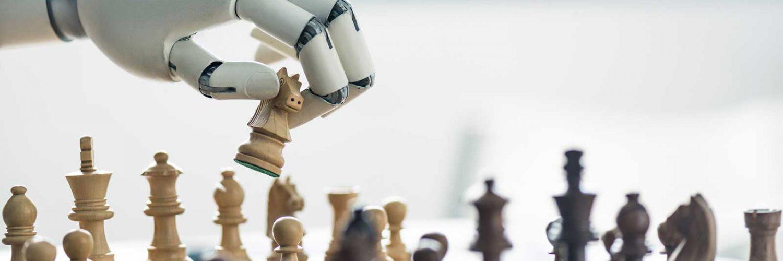robots playing chess